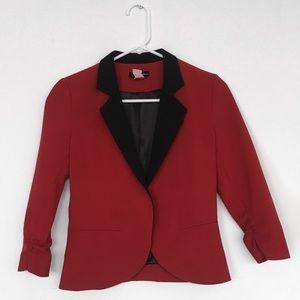 BLOOMINGDALES AQUA || Red Black Blazer